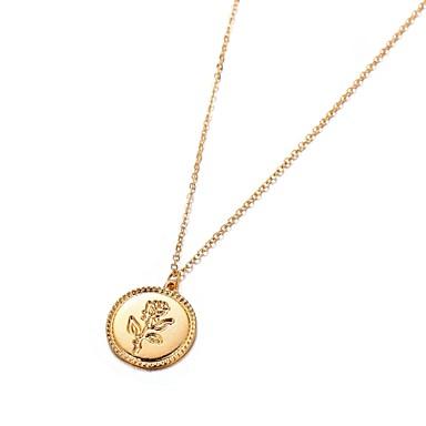 Žene Ogrlice s privjeskom Klasičan Cvijet dame Elegantno Legura Zlato 61 cm Ogrlice Jewelry 1pc Za Dar Festival
