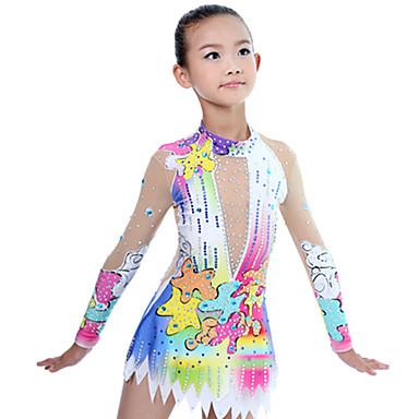122fa73c4 Collant Para Ginástica Rítmica   Collants Para Ginástica Artística Mulheres    Para Meninas Collant Marfim Elasticidade
