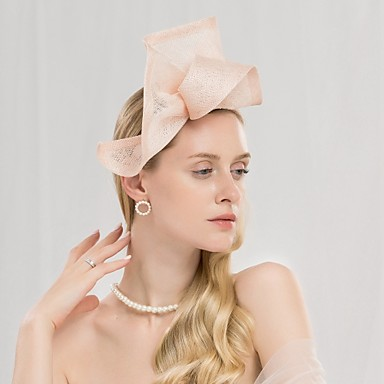 100% posteljine Kentucky Derby Hat / Trake za kosu s Jedna boja 1pc Vjenčanje / Zabava / večer Glava