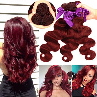 3 paketa Peruanska kosa Tijelo Wave Remy kosa Ekstenzije od ljudske kose 10-26 inch Isprepliće ljudske kose Nježno Najbolja kvaliteta Novi Dolazak Proširenja ljudske kose / 10A