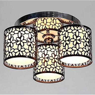 Lightinthebox 3-Işık Sıva Altı Monteli Ortam Işığı Boyalı kaplamalar Metal Kumaş Mini Tarzı 110-120V / 220-240V Ampul dahil değil / E26 / E27