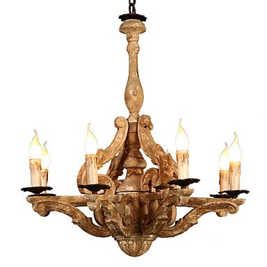 austen ding 8-svjetlo industrijski luster uplight oslikana završi drvo drvo / bambus drvo / bambus creative 110-120v / 220-240v