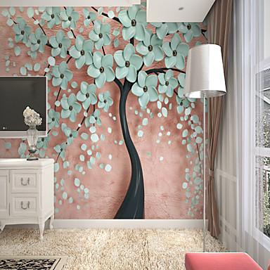 tapeta / Mural Platno Zidnih obloga - Ljepila potrebna Cvjetni print / Art Deco / 3D