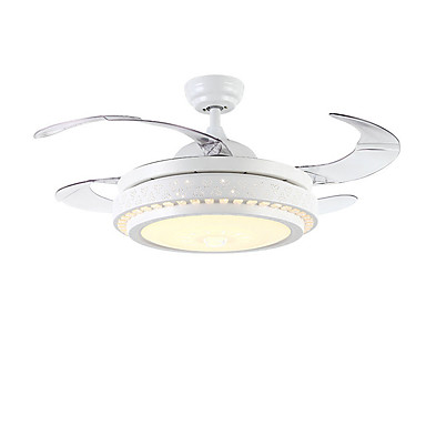 QINGMING® Stropni ventilator Ambient Light Slikano završi Metal LED 110-120V / 220-240V Više boja