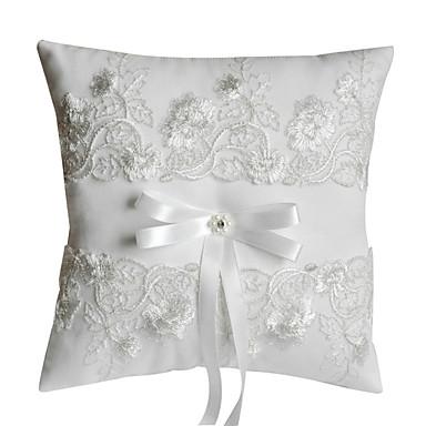 Svila / Običan puplin / Običan saten Cvjetni print Saten ring pillow Monogram Sva doba