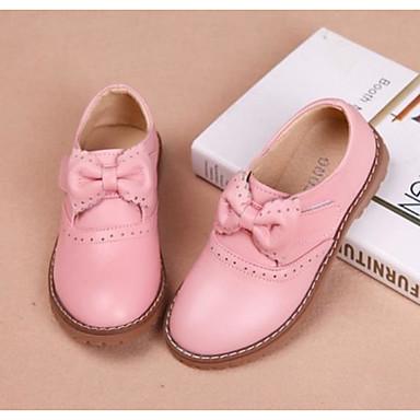 5c5cbc606 Chica Zapatos Cuero Primavera   Otoño Zapatos para niña florista Zapatos de  taco bajo y Slip-On Pajarita para Niños Negro   Rojo   Rosa