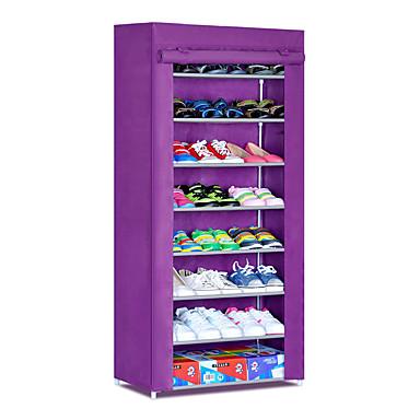 abordables Accessoires pour Chaussures-Cintre & Range Chaussures Tissus non-tissés 24 paires Unisexe Amande / Fuschia / # Vin rouge (anti-rides)