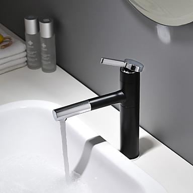 Kupaonica Sudoper pipa - Okretljive slavine / New Design Slikano završi / Crn Munkalapra szerelhető Jedan Ručka jedna rupaBath Taps