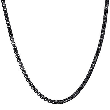 billige Mote Halskjede-Herre Anheng Halskjede Link / Kjede Mote Rustfritt Stål Gull Svart Sølv 55 cm Halskjeder Smykker 1pc Til Gave Daglig