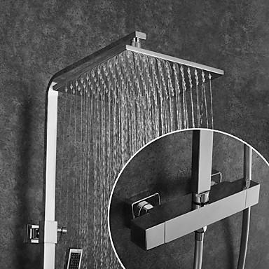 Slavina za tuš / Kupaonica Sudoper pipa - Suvremena Chrome Zidne slavine Brass ventila Bath Shower Mixer Taps / Dvije ručke dvije rupe