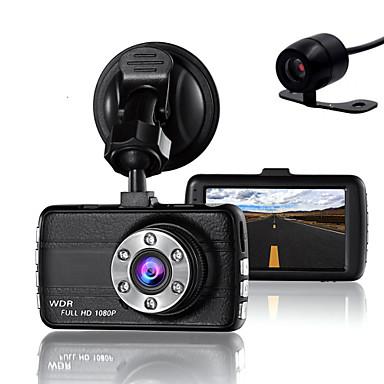 halpa Autoelektroniikka-kaksinkertainen objektiivi kameran kameran dvr-auto kuljettajille täysi hd 1080 p tallentava kamera, jossa nähinä-g-anturi
