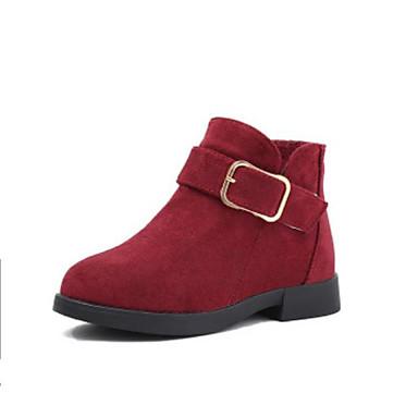 d9f2ad44 Chica Zapatos Ante Otoño invierno Botas de Moda Botas Hebilla para Niños  Gris / Amarillo / Rojo / Botines / Hasta el Tobillo