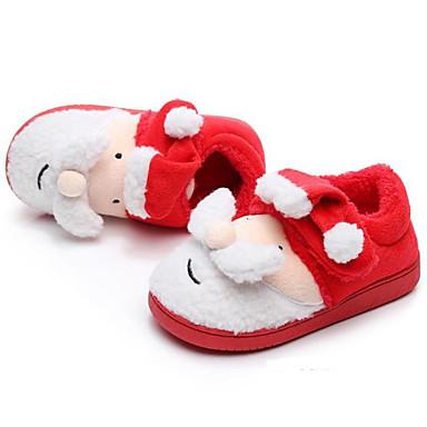 Χαμηλού Κόστους Ξεπούλημα Παπουτσιών-Αγορίστικα / Κοριτσίστικα Βαμβάκι Παντόφλες & flip-flops Νήπιο (9m-4ys) / Τα μικρά παιδιά (4-7ys) / Μεγάλα παιδιά (7 ετών +) Ανατομικό Pom-pom Κόκκινο Χειμώνας / Καοτσούκ