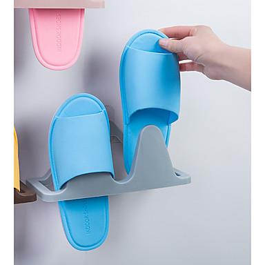 abordables Accessoires pour Chaussures-Cintre & Range Chaussures Plastique 1 paire Unisexe Bleu / Marron / Rose Claire