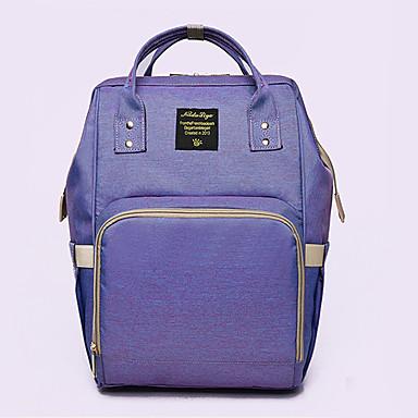 abordables Sacs-Etanche Tissu Oxford Fermeture Sacs de Maternité Couleur unie Quotidien Bleu de minuit / Violet / Rose / Automne hiver