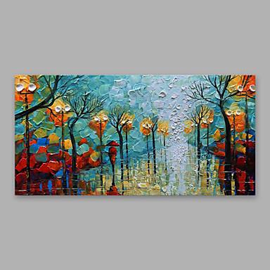 Hang-malované olejomalba Ručně malované - Abstraktní Moderní Obsahovat vnitřní rám / Reprodukce plátna