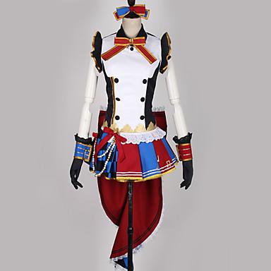 Inspirirana Ljubav uživo Kostimi sluškinje / Cosplay Anime Cosplay nošnje Japanski Cosplay Suits Više boja / Kolaž Haljina / Rukavice / Luk Za Muškarci / Žene