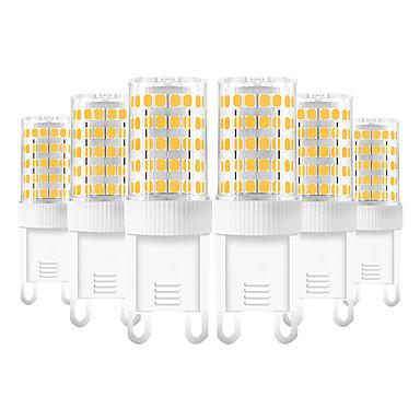 billige Elpærer-YWXLIGHT® 6pcs 10 W LED-lamper med G-sokkel 600-800 lm G9 T 86 LED perler SMD 2835 Varm hvit Kjølig hvit Naturlig hvit 220-240 V