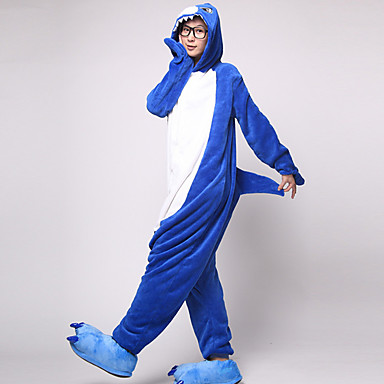 9bd64cd312 Adults  Kigurumi Pajamas Shark Onesie Pajamas Flannel Toison Cosplay For Men  and Women Animal Sleepwear Cartoon Festival   Holiday Costumes  00840616