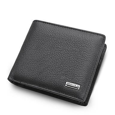 muške torbe nappa kožna novčanica čvrste boje crno / smeđe