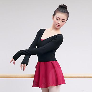 Ballett Oberteile Damen / Mädchen Training / Leistung Die Garne / Gestrickt Elastisch Langarm Top