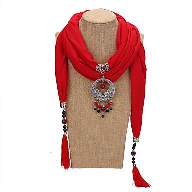 Žene Ogrlica od šalova Long dame pomodan Hiperbola Etnikai Poly / Cotton Legura Lila-roza Svijetlo zelena Tamno zelena 180 cm Ogrlice Jewelry 1pc Za Dar Maškare