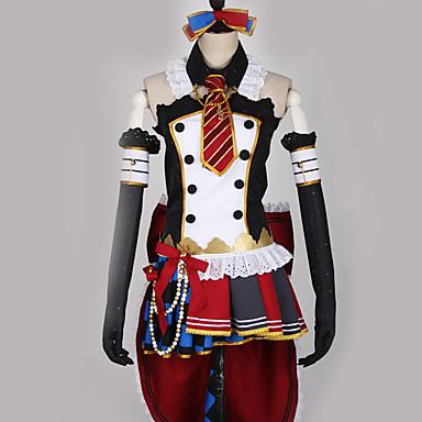 Inspirirana Ljubav uživo Kostimi sluškinje / Cosplay Anime Cosplay nošnje Japanski Cosplay Suits Kolaž / Miks boja Haljina / Luk / More Accessories Za Muškarci / Žene