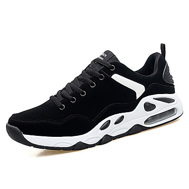 Men's Comfort Shoes Cowhide Spring & Summer Sporty Athletic Shoes Running Shoes Black / Gold / Black and White / Black / Red