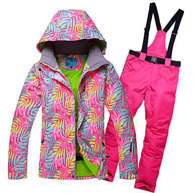 b91ffb0f5d RIVIYELE Women s Ski Jacket with Pants Waterproof Windproof Warm Camping    Hiking Winter Sports Cotton POLY