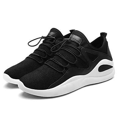 Muškarci Udobne cipele PU Proljeće Ležerne prilike Atletičarke tenisice Hodanje Prozračnost Crn / Crno-bijeli / Crno / crvena