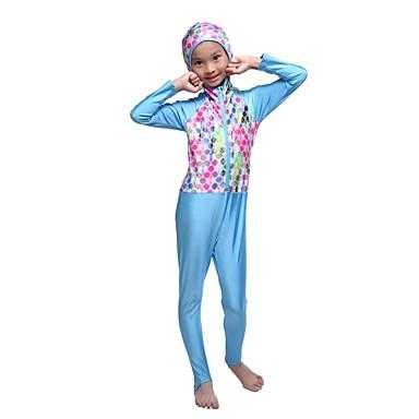 baratos Roupas de Banho para Meninas-Infantil Para Meninas Básico Praia Geométrica Retalhos Roupa de Banho Fúcsia