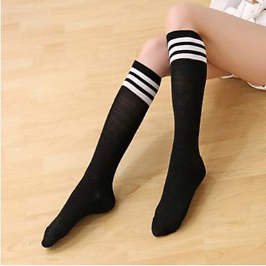 Tanke Sexy Žene Samostojeće čarape - Color block Obala Crn Red One-Size / Klub