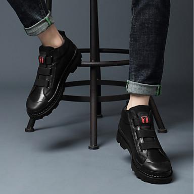 Homme Chaussures en cuir Cuir Automne hiver Classique / Décontracté Décontracté Décontracté Bottes AugHommes ter la hauteur Bottine / Demi Botte Noir 1492ce