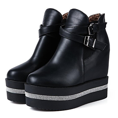Abile Per Donna Pu (poliuretano) Autunno Sneakers Heel Nascosto Bianco - Nero #07075728 Vari Stili