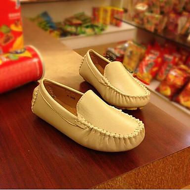 voordelige Babyschoenentjes-Jongens Comfortabel PU Loafers & Slip-Ons Peuter (9m-4ys) / Little Kids (4-7ys) / Big Kids (7jaar +) Zwart / Beige / Bruin Lente & Herfst