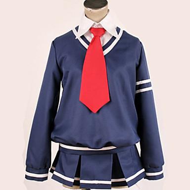 Inspirirana Vocaloid Cosplay Anime Cosplay nošnje Japanski Cosplay Suits / School Uniforms Jednobojni / Uglađeni Top / Suknja / More Accessories Za Muškarci / Žene