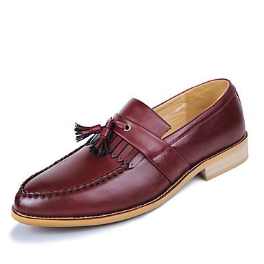 Homme Chaussures Formal Matière synthétique Printemps & Automne Automne Automne Business / British Mocassins et Chaussons+D6148 Ne glisse pas Noir / Marron / Vin | Magasiner  78b3d9