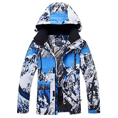 RIVIYELE رجالي نسائي جاكيت للتزلج ضد الهواء دافئ التنفس إمكانية الرياضات الشتوية قطن بولي قمم ملابس التزلج / الشتاء