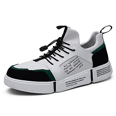 Men's Comfort Shoes Mesh Spring & Summer Sporty Sneakers Black / Black / Red / White / Green
