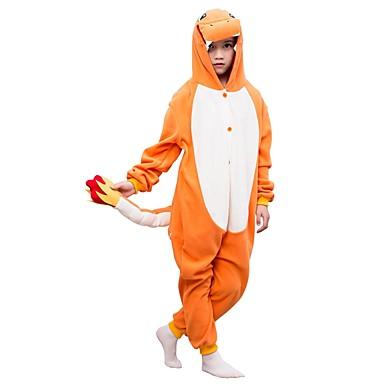 Kigurumi plišana pidžama Dinosaur Onesie pidžama Flis žuta Cosplay Za Dečki i cure Zivotinja Odjeća Za Apavanje Crtani film Festival / Praznik Kostimi