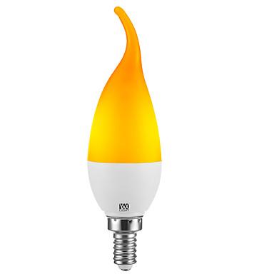 billige Elpærer-YWXLIGHT® 1pc 2 W LED-lysestakepærer 100-200 lm E14 E12 C35L 39 LED perler SMD 2835 Fest Dekorativ Jul Bryllup Dekorasjon Gul 100-240 V