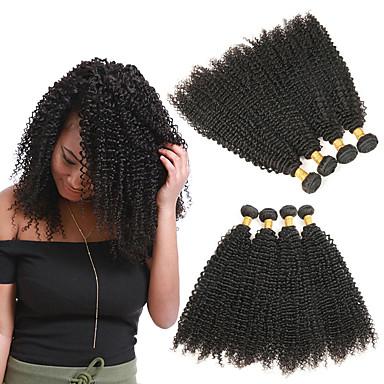 4 svazky Brazilské vlasy Kinky Curly Remy vlasy Příčesky z pravých vlasů 8-28 inch Lidské vlasy Vazby Módní design Měkký povrch Nejlepší kvalita Rozšíření lidský vlas Dámské