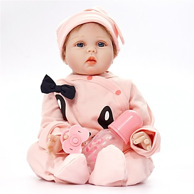 FeelWind リボーンドール 赤ちゃん(男) 22 インチ シリコーン ビニール - 生き生きとした 手作り キュート 子供 無毒 子供 男女兼用 おもちゃ ギフト