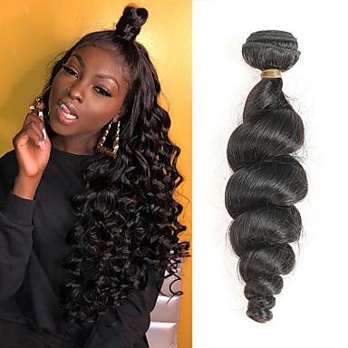 1 pacchetto Brasiliano Onda sciolta capelli naturali Remy Extension di capelli umani 8-28 pollice Tessiture capelli umani Soffice Migliore qualità Nuovo arrivo Estensioni dei capelli umani Per donna