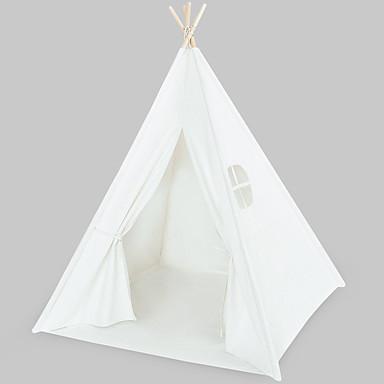 billige Telt og ly-2 personer Telt Utendørs Reise Med enkelt lag Stang Pyramide camping Tent til Utendørs Trening Strand Camping / Vandring / Grotte Udforskning Ren bomull, Bomull 120*120*145 cm