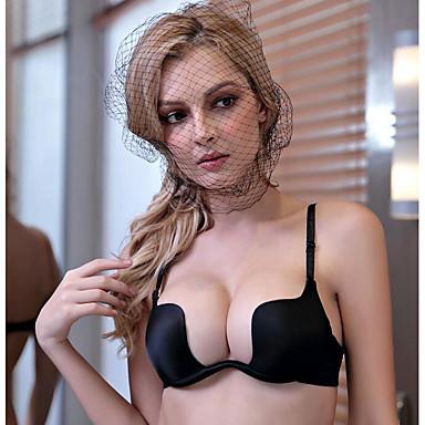 Da donna Sexy A mezza coppa Reggiseni Push up / Con ferretto - Tinta unita Nylon Beige Viola Vino 85B 85C 85D / Molto stondata