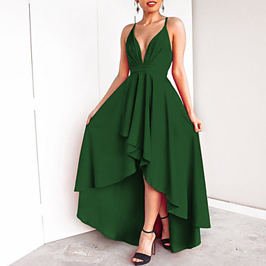 tanie Nowości-Damskie Podstawowy Pochwa Sukienka - Solidne kolory, Odkryte plecy Maxi