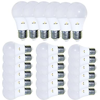 Χαμηλού Κόστους Λάμπες-EXUP® 24pcs 5 W LED Λάμπες Σφαίρα 450 lm E26 / E27 15 LED χάντρες SMD 2835 Δημιουργικό Λατρευτός Απίθανο Θερμό Λευκό 85-265 V