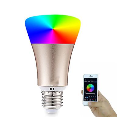 billige Elpærer-1pc 7 W LED-globepærer 600-700 lm E26 / E27 20 LED perler SMD 5730 APP-kontroll Smart Timing RGBW 85-265 V / Mulighet for demping