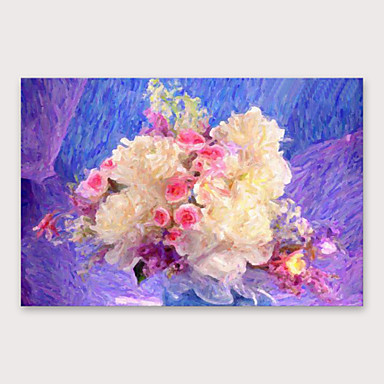 fb58de0860094 Oil Painting Hand Painted - Floral / Botanical Modern Stretched ...